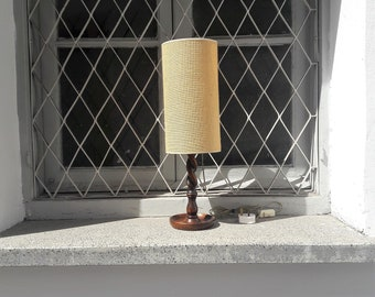 Vintage Wooden Lamp Shade/Desk Lamp