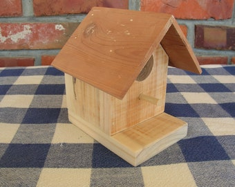 Birdhouse - Pallet Wood, Cedar Roof - Small, Decorative, Indoor, Outdoor Birdhouse - Garden, Porch, Patio