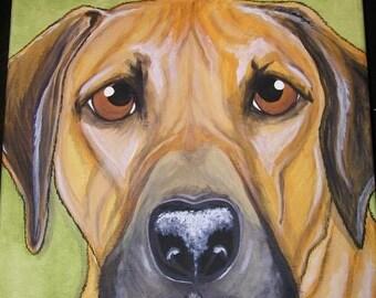 CUSTOM Pet Portrait Painting 11x14
