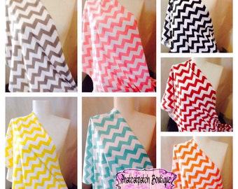 Nursing Scarf, Nursing cover, Chevron scarves, Nursing Wrap infinity scarf, breastfeeding  cover Baby Shower Gifts XLarge XWide Nursing