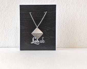 aquafortis - ooak - square - necklace - etched jewelry