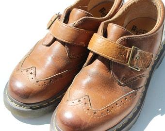 Vintage Brown Dr. Martens Doc Martens Size 7 Vintage Doc Martens Vintage Doc Marten Spectators Buckle Shoes