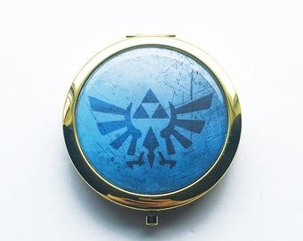 Legend of Zelda Hylian Crest Inspired Compact Mirror