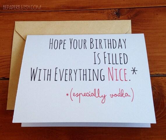 Funny Birthday Card / Humor Birthday Card / Friend Birthday