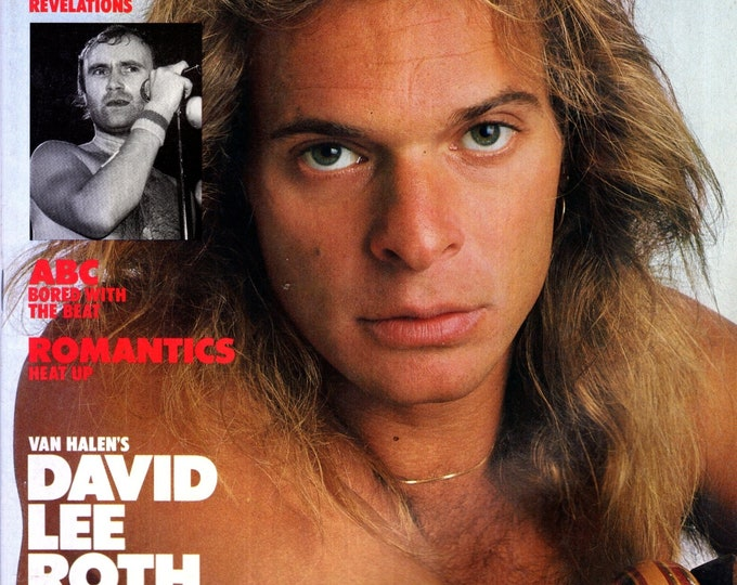 Record Magazine April 1984 Issue David Lee Roth Cover