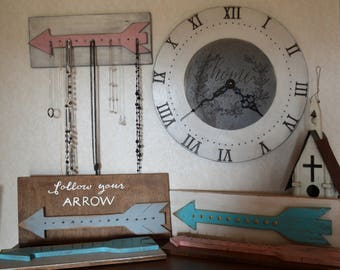 Arrow Jewelry Holder, Dorm Decor, Jewelry Organizer, Earring Holder, Necklace Display, teen gift