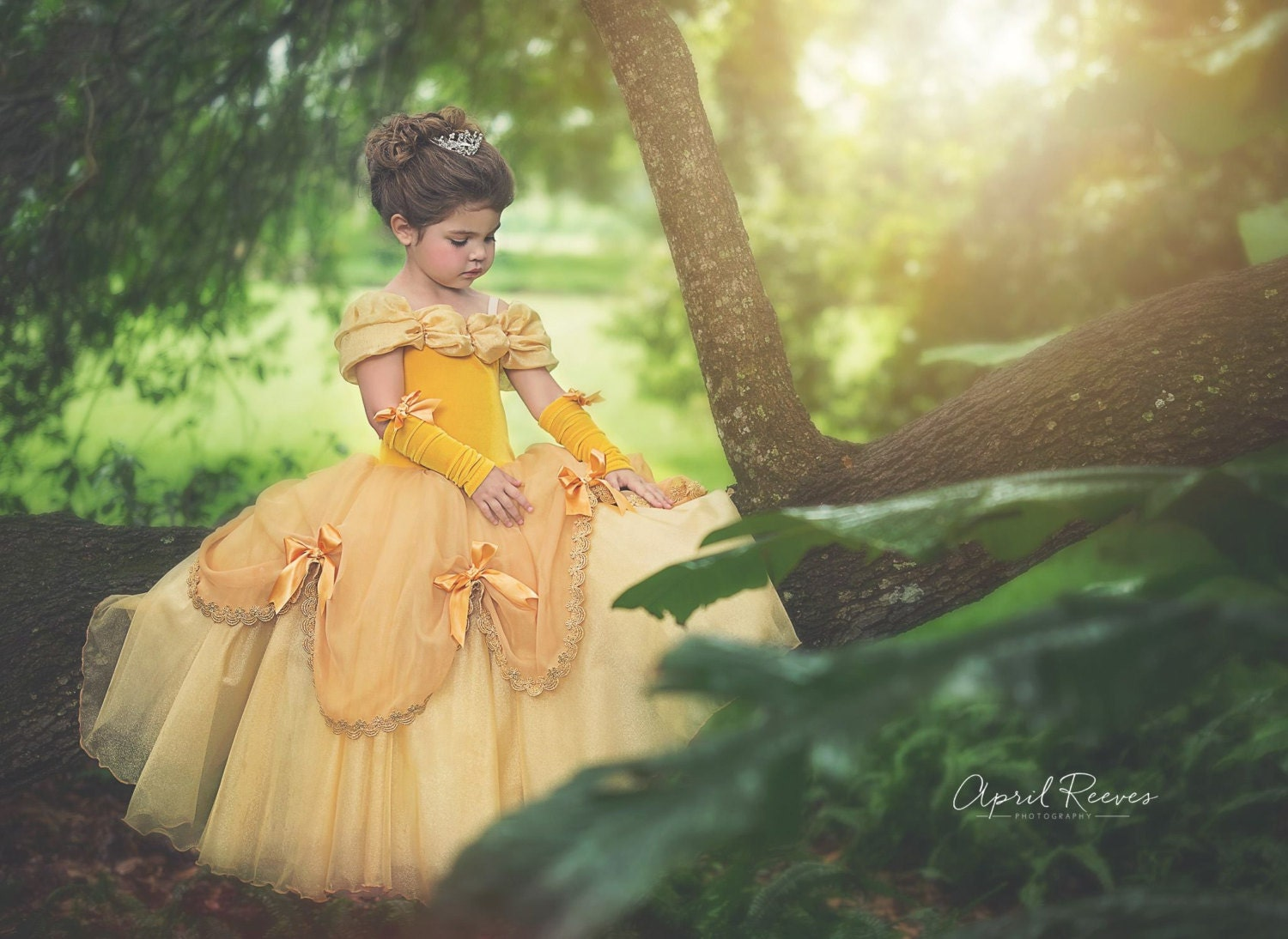 Belle inspired dress princess costume size 3t ball gown