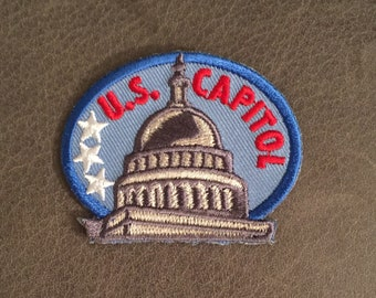 U.S. Capitol Merit Badge Our Nation's Capitol White House Building Washington DC National Mall National Park Service Adult Scout Patch