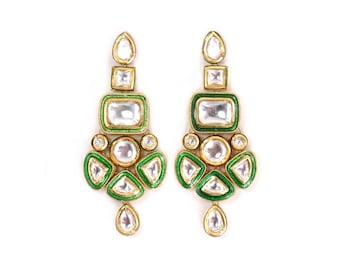 Trisha Gold Kundan Earrings