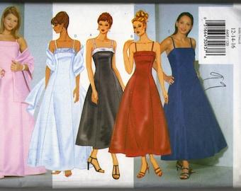 Butterick Pattern 6405 Misses/Misses Petite Dress and Stole Size 12 14 16