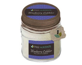 Tallow Candle – Blueberry Cobbler