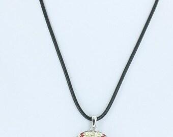 """Baseball or Softball bling necklace 1.5 """" Pendant"""