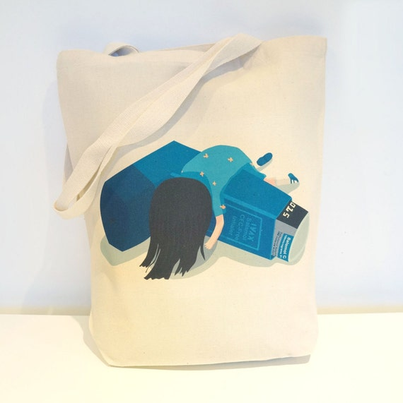 Inhaler Lily Tote Bag