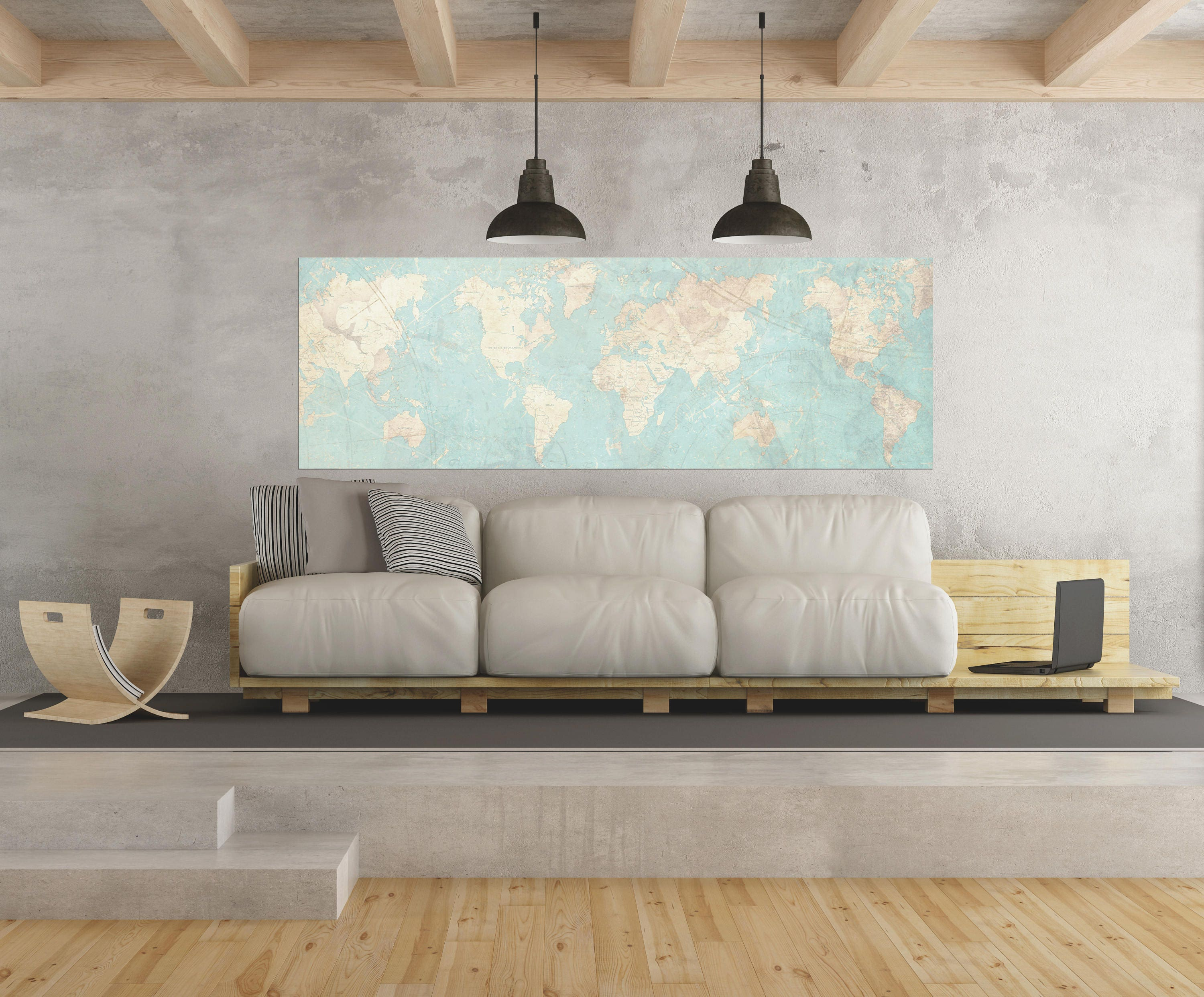 World map canvas print vintage map world map horizontal extra large world map canvas print vintage map world map horizontal extra large wall art vintage map antique oversized pastel map huge wall art poster gumiabroncs Choice Image