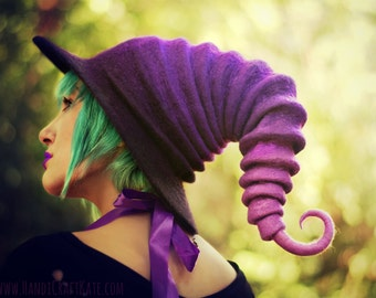 "Costume Hat. ""Licorice"" Witch Hat. Wizard Hat. Fantasy Hat. Cosplay Hat. LARP."