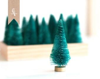 "3 Petite Bottle Brush Sisal Trees 3"" Christmas Holiday DIY"