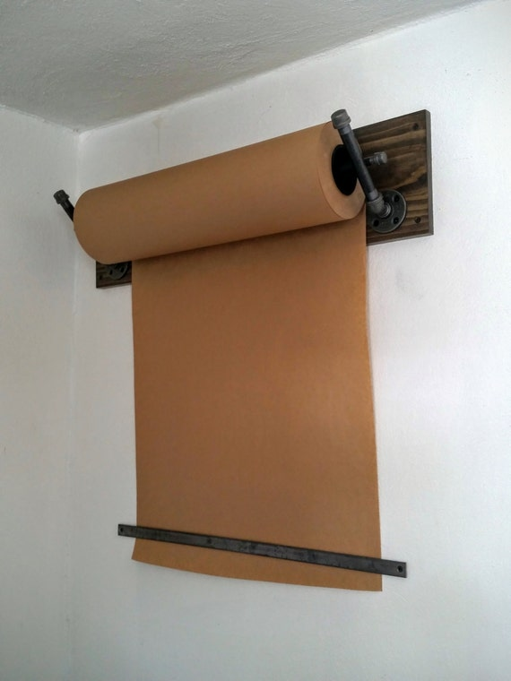 distributeur de papier kraft support mural tuyau