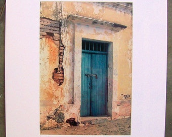"""Vintage Old Building Door Photograph // Limited Edition Matted // Ready To Frame Photo // Signed Dated California // Measures 20"""" x 16"""""""