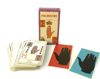 Jeu de la Main Palmistry Fortune Telling Cards by Grimaud. French Vintage Palm Reading Divination Card Deck. Tarot & Esoteric Gifts.