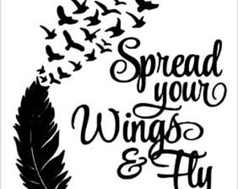 Spread Your Wings & Fly - Memory Decals