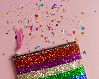 Pride Rainbow Party Handbag Purse .
