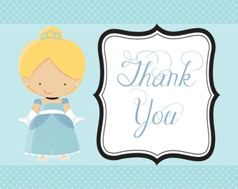 Royal Ball Cinderella Thank You Note card