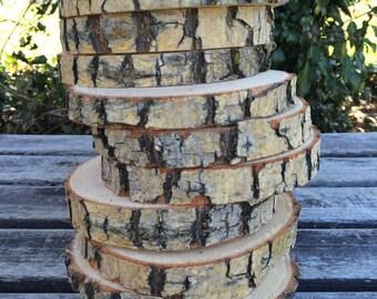 10 Willow Log Slice (2-3inch wide) wood coasters disk center piece DIY Wedding party shower wooden rustic natural glam
