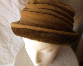 Faux Fur Cloche Bucket Brown Winter Hat FREE SHIPPING!!