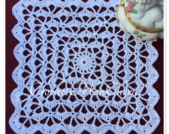 Simply Squared Doily - CrochetMonCherie - Instant download - Crochet PATTERN (pdf file)