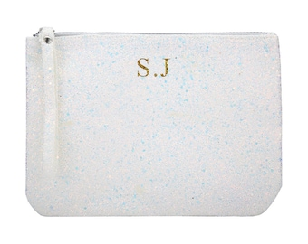 Monogrammed Clutch, Personalized Glitter Clutch. Add you own initials!