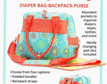 Every Day Every Way   By:  Annie.com  Diaper Bag-Backpack-Purse  2 Sizes   PBA258