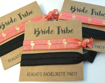 Elastic Hair Tie, Hair Tie Favors, Bachelorette Favor, Bridesmaid Favor - BRIDE TRIBE - Hair Tie Favor, You Choose Colors!