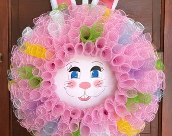 Easter Bunny Wreath, Easter Bunny, Bunny Face, Peter Cottontail, Easter, Spring, Bunny, Rabbit