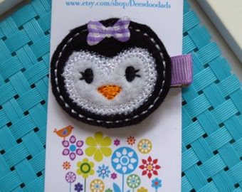 Peggy the Penguin Hair Clip