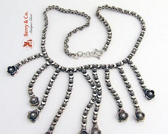 SaLe! sALe! Vintage Ornate Chain Necklace Sterling Silver