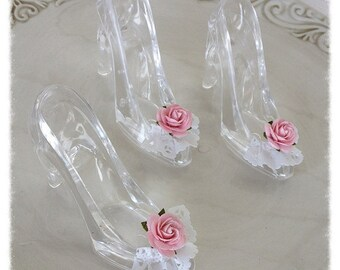 Cinderella Princess Glass Slippers Set of Three for Birthday Party Birthday Decoration