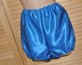 Lovely silky soft satin bloomers / boxers, rich blue satin....!  Sissy Lingerie