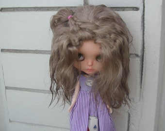 Availible blythe doll wig bjd natural hair DIY