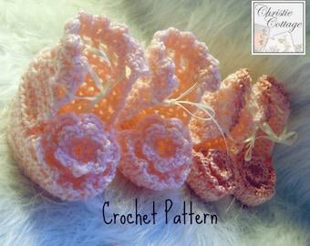 Baby Bootie, Crochet Pattern. PDF Pattern 002