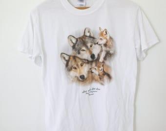 vintage tacoma wolf white t shirt