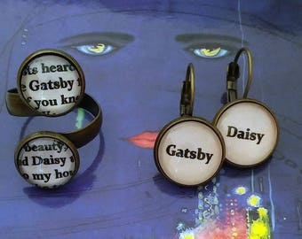Gatsby Daisy Quote Ring or Earrings The Great Gatsby