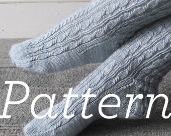 Knit Socks Pattern // Twists & Braids Socks pdf pattern