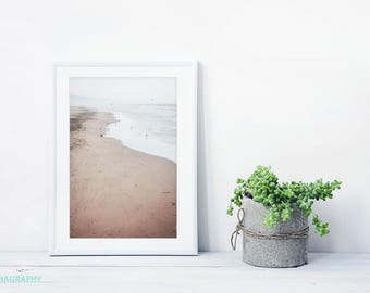 "Ocean Beach San Francisco // Beach Photography // Ocean Seaside Photography // Living Room Art // Beige Natural Color // ""Ocean Beach SF"""