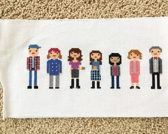 Gilmore Girls Cast Cross Stitch- Customize your own title!