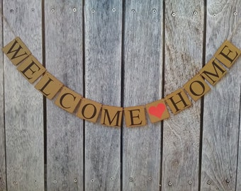 WELCOME HOME banner, welcome banner, military welcome home sign, realtor new home gift, homecoming banner, new home sign, new home gift