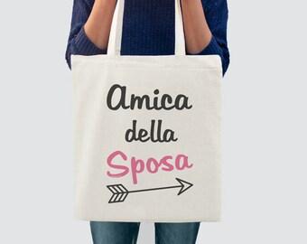 Amica della sposa shopper-sposa shopper-bride tote bag-wedding tote bag-bridesmaid tote-bridesmaid gift-bridal tote-by GLAMOUR TOTE-GT45