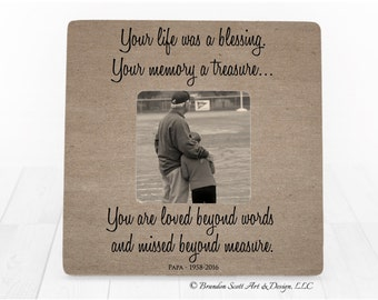 Memorial frame, In memory of frame, Memorial picture frame, Bereavement frame, Sympathy gift, Remembrance