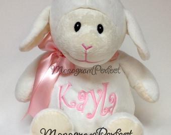 """Personalized 16"""" Plush Lamb Stuffed Animal"""
