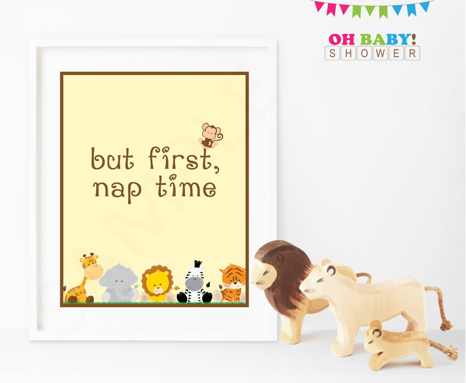 But First Nap Time Safari Nursery Decor Animals Nursery