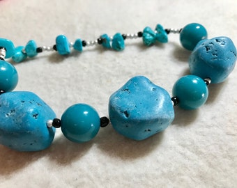 Turquoise Blues Necklace & Earrings Set